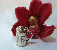Anhänger HB Bierkrug Bierseidel Bettelarmband 830er Silber Charms / bc 822