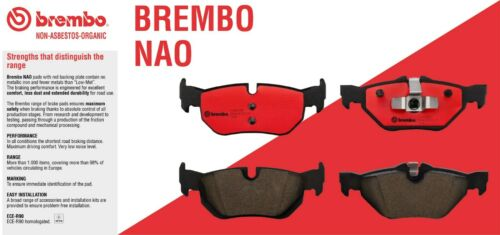 For Toyota Highlander 2003-2007 Front and Rear NAO Ceramic Brake Pads Kit Brembo
