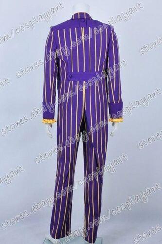 Batman Cosplay Arkham Asylum Costume Joker Stripe Suit  New Ver Great Quality