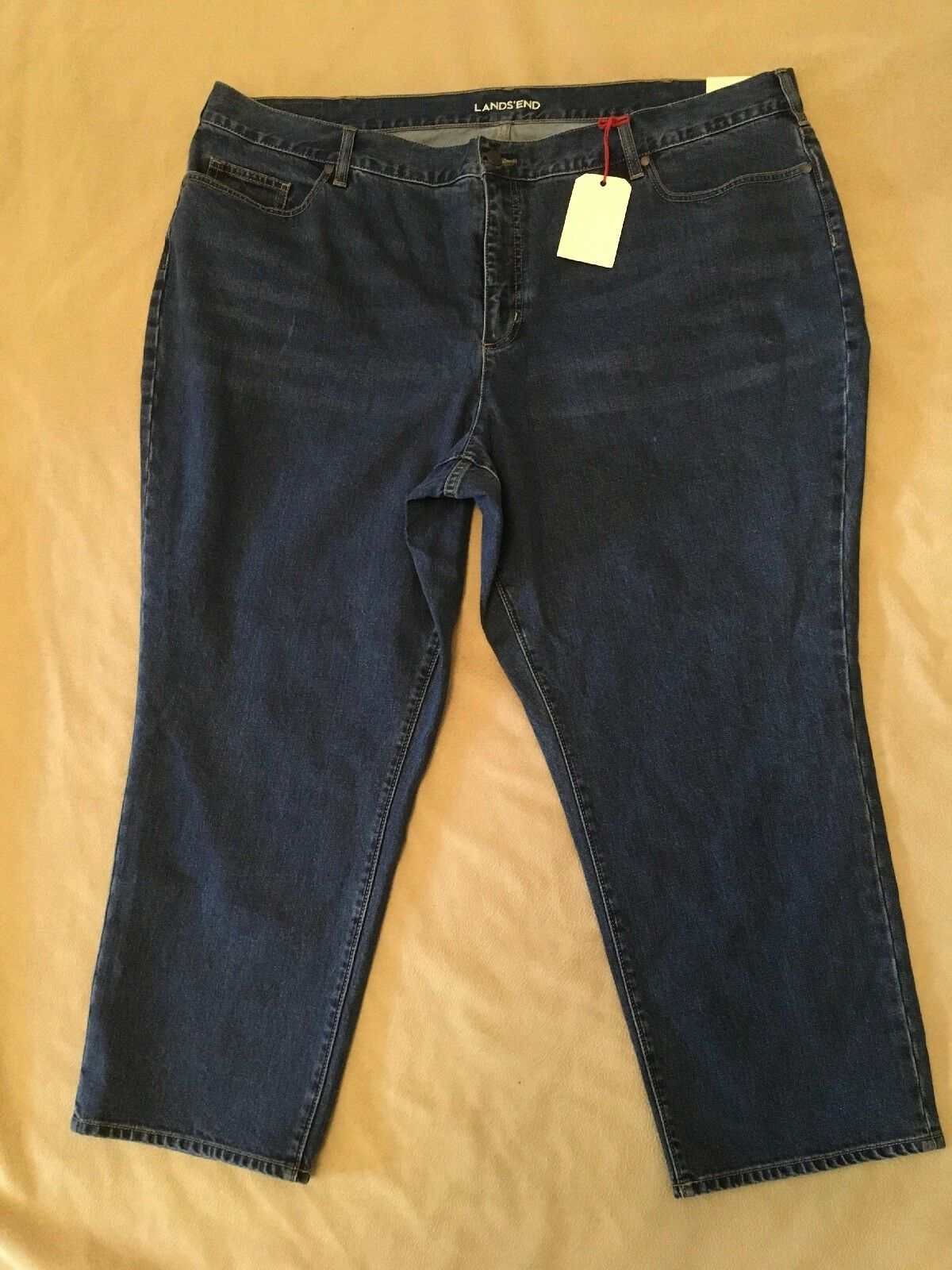 "Lands End Jeans 26W High Rise Straight Leg Nwt 27.5"" Inseam"