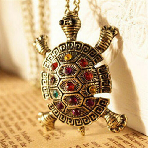 Women New Lovely Turtle Pendant Necklace Vintage Cute Sweater Chain Necklace XJ