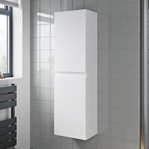 Image Is Loading 1200mm Tall Bathroom Wall Hung Storage Cabinet Cupboard