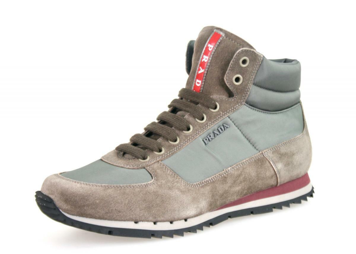 shoes PRADA LUSSO 4T2782 grey NUOVE 6 40 40,5