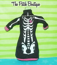 MONSTER HIGH CREATE A MONSTER SKELETON DOLL OUTFIT REPLACEMENT BLACK BONES DRESS