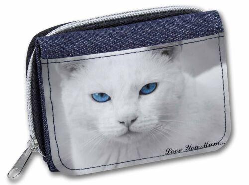 White Cat /'Love You Mum/' Girls//Ladies Denim Purse Wallet Christmas Gi AC-6lymJW