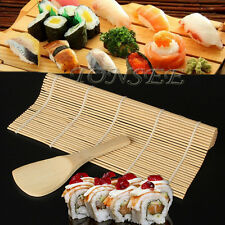 Sushi Roll Maker Bamboo Kit Rice Roller Mold Mould Chef Kitchen DIY Set U
