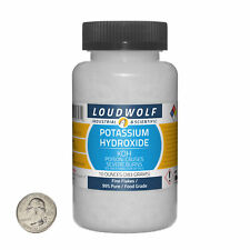 Potassium Hydroxide 10 Ounce Bottle 99 Pure Food Grade Fine Flakes Usa