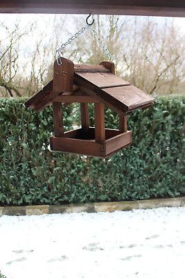 XL Futterhäuschen Vogelhäuschen Futterspender Vogelhaus Futterhaus Birke Holz