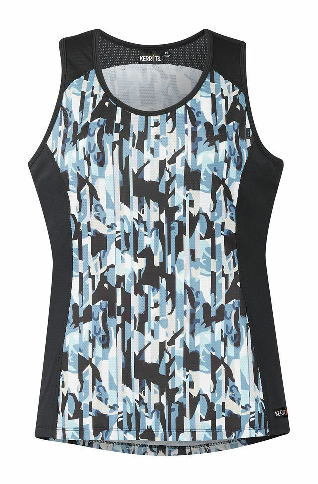 Kerrits Ice Fil Tank  Top with Contrasting Side Panels and Cooling Fabric  online cheap