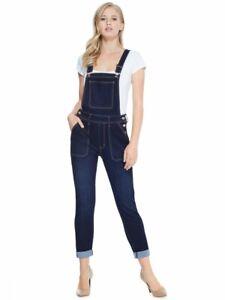 GUESS-Factory-Women-039-s-Alexie-Denim-Overalls