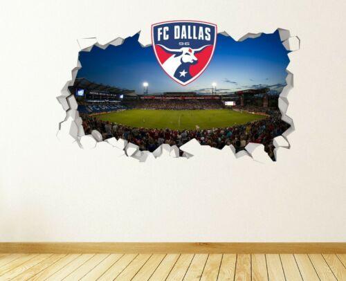 FC Dallas Logo Wall Decal Smashed MLS Sport 3D Art Sticker Vinyl JS1705