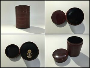 Japanese-Wooden-Tea-Caddy-Chaire-Vintage-Sencha-Matcha-Powder-Lacquer-Ware-C063