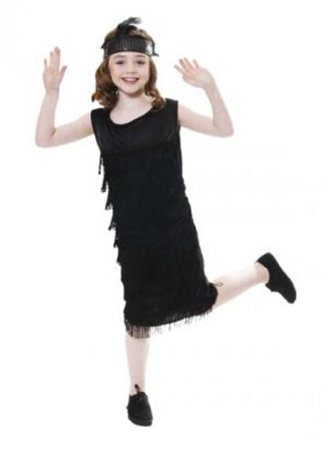 GIRLS FLAPPER DRESS AND HEADPIECE 1920/'S CHILD FANCY DRESS COSTUME AGES 4-14