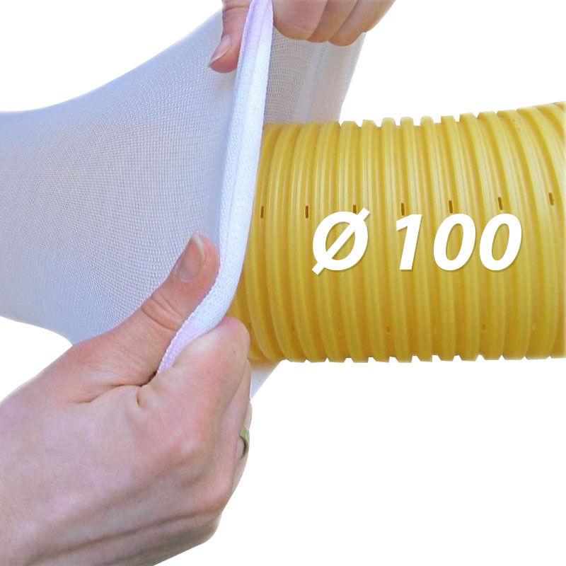 20m TUBO DRENAGGIO dn100 Giallo Filtro Tubo Set