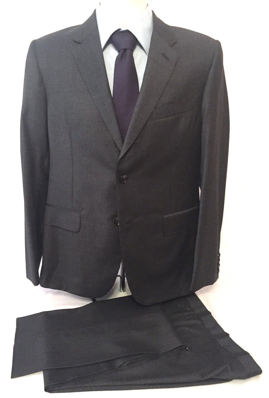 NWT 2.3K Martin Grünfield HANDMADE IN USA Charcoal grau Wool Suit 38 AUTHENTIC