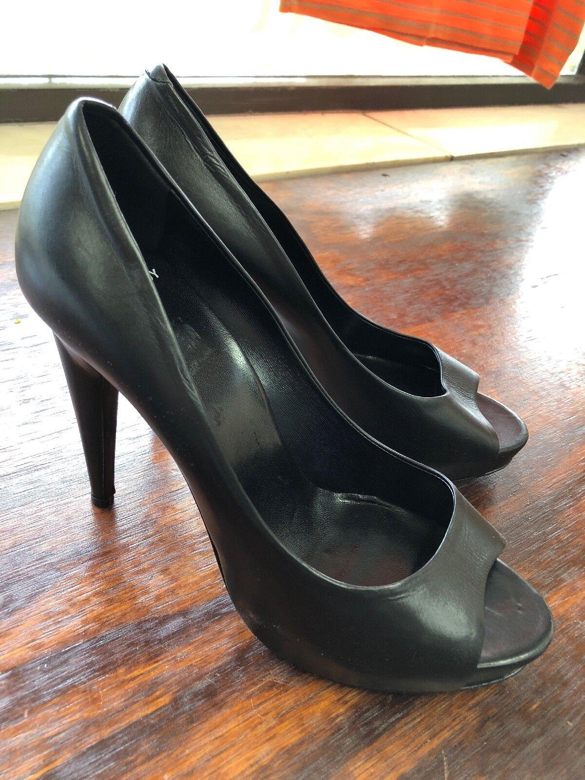 Pierre Pierre Pierre HARDY Zapatos De Salón Cuero Negro Sin Puntera Talla 39.5 (nunca Usado)  Venta al por mayor barato y de alta calidad.