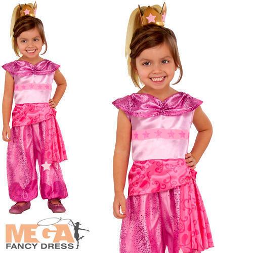 Leah Genie Ragazze Costume Shimmer /& Brillante Bambini Cartone Animato Bambino Costume Outfit