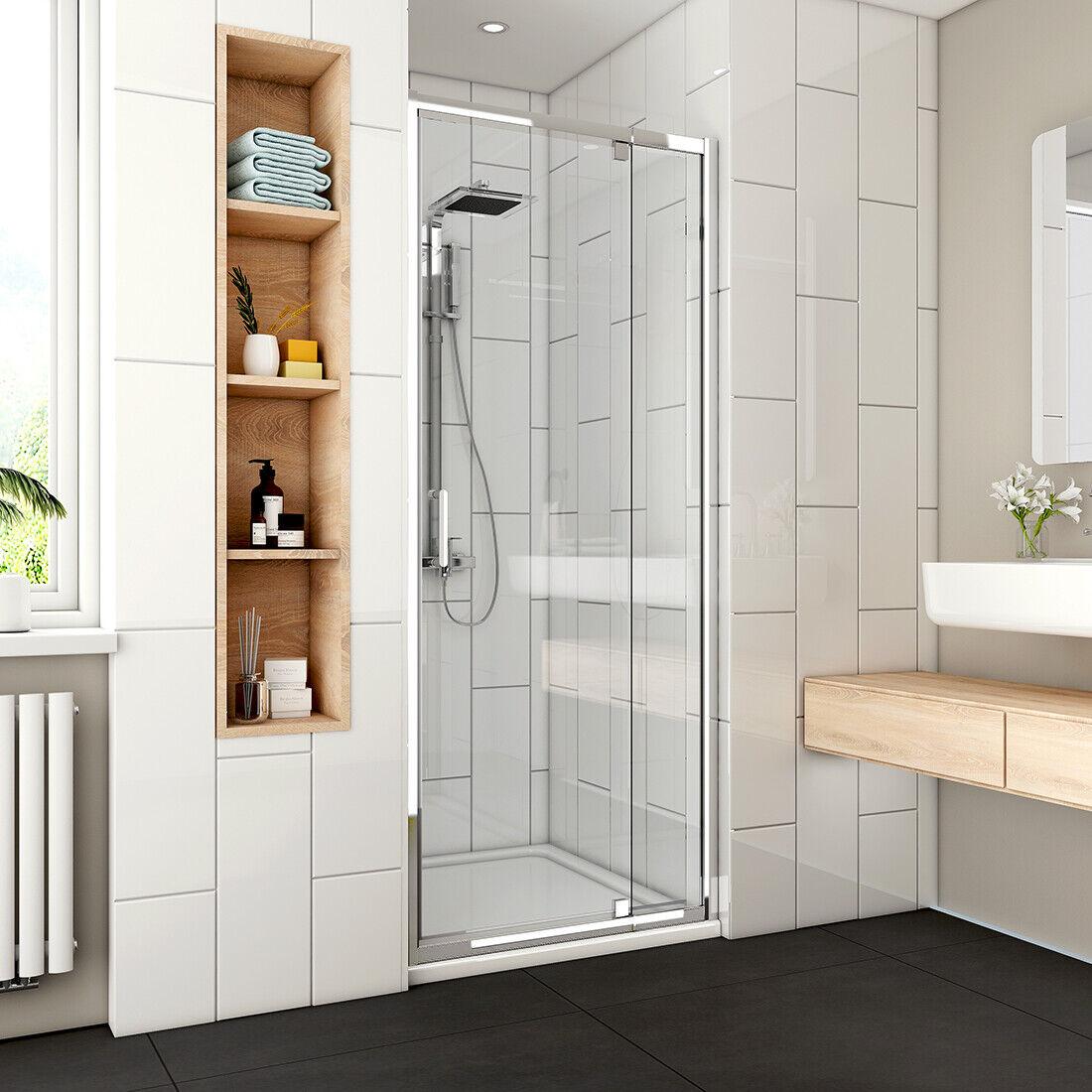 31 36 1 2 X 72 Framed Pivot Swing Shower Door 1 4 Clear Glass Chrome Finish
