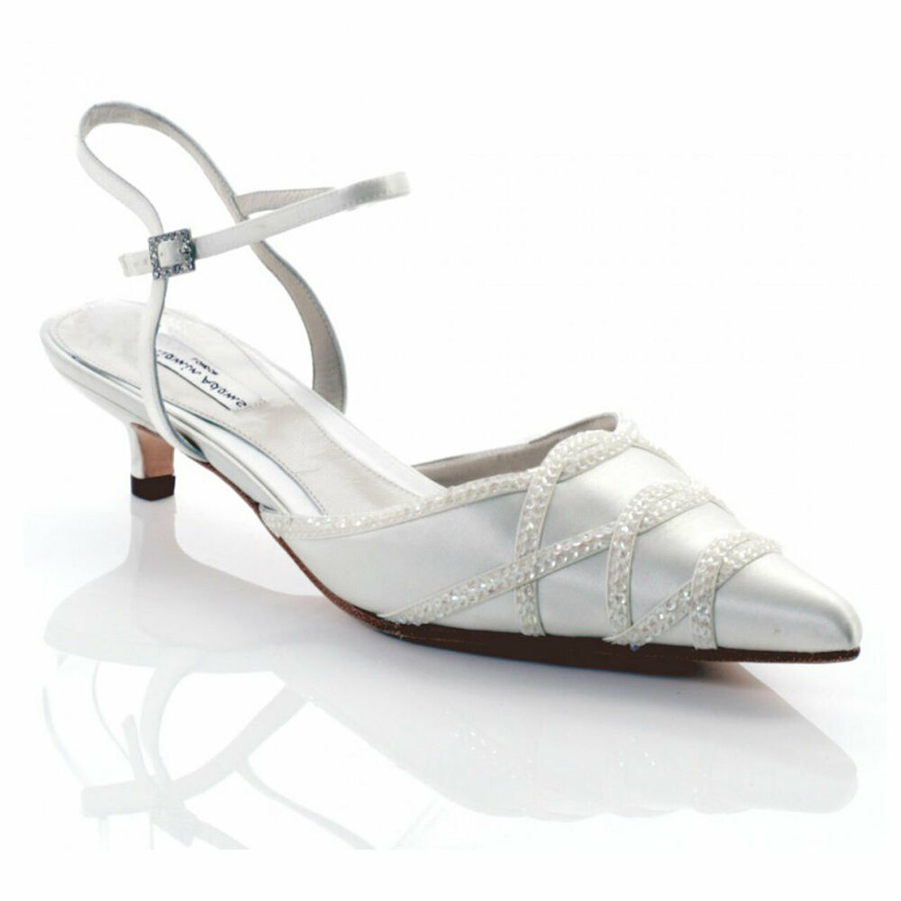 Bon CœUr Benjamin Adams Powell 20% Off Ivory Silk Leather Swarovski Crystal Bridal Shoes Couleurs Harmonieuses