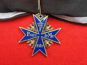 WW1-Prussian-Imperial-German-Blue-Max-Pour-Le-Merite-Medal-Free-Delivery