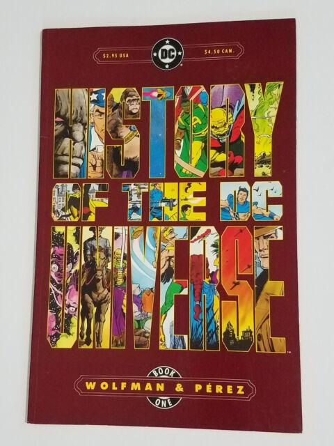History of the DC Universe Book 1 Wolfman & Perez 1986 TPB Paperback   DC Comics