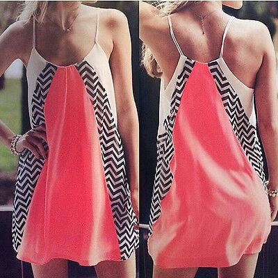 Sexy Women's Summer Casual Sleeveless Evening Party Beach Dress Short Mini Dress