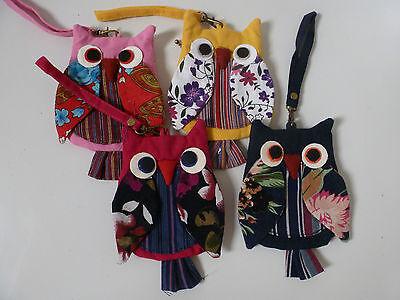 Dinamico Folk Stile Patchwork Cotone Gufo Portafogli (4 Asst Colori)-mostra Il Titolo Originale Facile Da Riparare