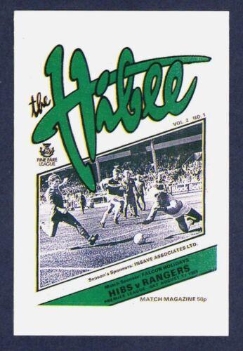 PANINI FOOTBALL 86-#571-HIBERNIAN PROGRAMME
