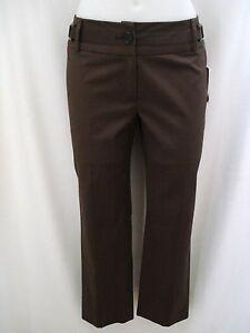 ETCETERA-ECCOCI-DARK-BROWN-COTTON-STRETCH-PANTS-SLACKS-sizes-4-8-10-16-NEW
