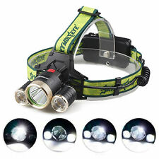 30000LM LED Headlight Flashlight Torch Cree 3x XM-L T6 Headlamp Head Light Lamp