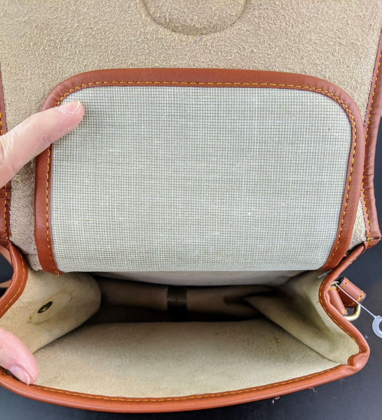 Dooney & Bourke Tan Brown Small Purse Handbag Tra… - image 10