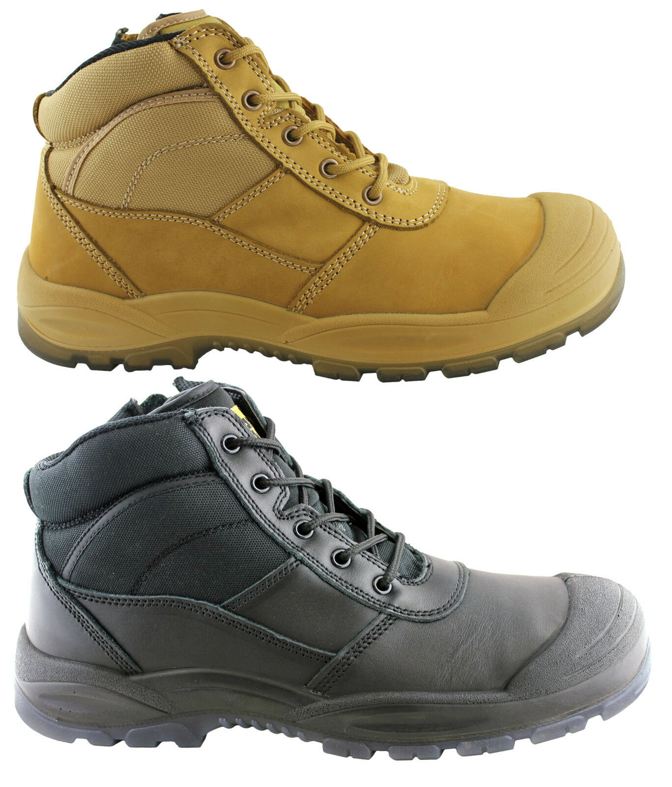 HARD YAKKA MENS UTILITY SIDE ZIP SAFETY TOE/INDUSTRIAL BOOTS WITH STEEL CAP TOE/INDUSTRIAL SAFETY 166b4e