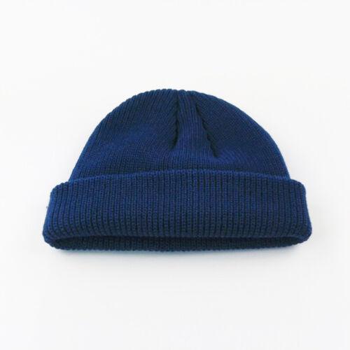 Men Women Beanie Knit Hat New Cuff Brimless Ski Hip-Hop Warm Skullcap Sailor Cap