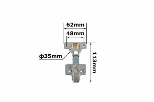 2x pièce 3d eckanschlag avec hydraulique amortisseur charnière topfscharnierе d /'Conti