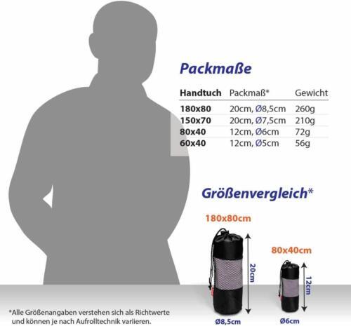 diMio Handtuch Mikrofaser Badetuch Strandtuch Reisehandtuch Gäste Dusche PINK