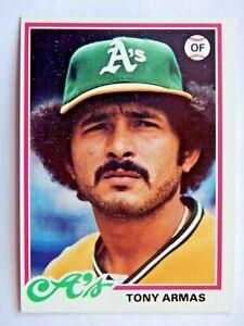 Tony Armas #298 Topps 1978 Baseball Card (Oakland Athletics) VG