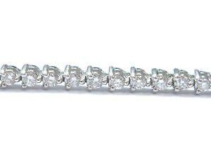 Fine-Round-Cut-Diamond-White-Gold-3-Prong-Tennis-Bracelet-57-Stones-7-034-2-00Ct
