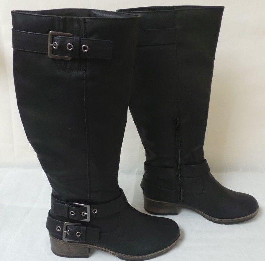 New  SO Women's Ruler Knee High Boots Black  66551 150R