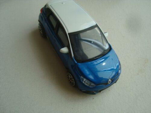 Miniatur Renault Captur Blau Dach Weiß 1//43 B Burago Neu Street Feuer