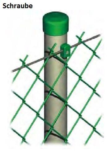 Drahthalter für Zaundraht Maschendrahtzaun Zaun PE mit Schraube oder Hakenbolzen