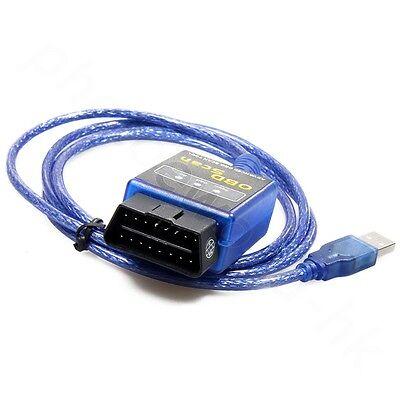 Diagnosis Coche Scaner ELM327 Mini Vgate OBDII OBD2 Multimarca V1.5 Cable USB
