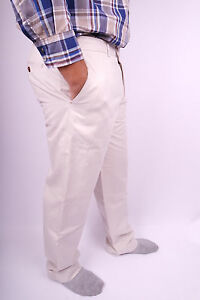 Tommy-Hilfiger-Tailored-Regular-Fit-Elegante-Chino-Hose-Weiss-Creme-Groesse-56