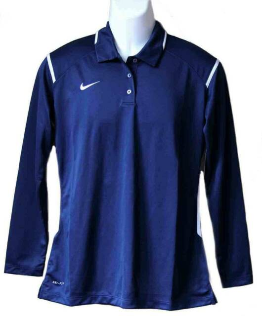 Buy Nike Polo Shirt Navy Blue Dri-fit Size Large online  91dc278ca