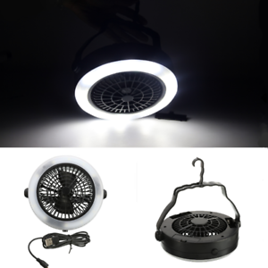 With Hook Rechargeable 3 in 1 LED Fan Tent Lamp USB Camping For Outdoor Portable