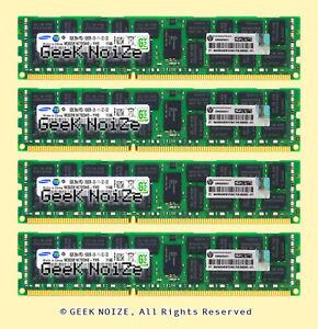 Server-RAM-4x-8GB-PC3-10600R-ECC-REG-DDR3-1333MHz-RDIMM-Memory-HP-500205-371