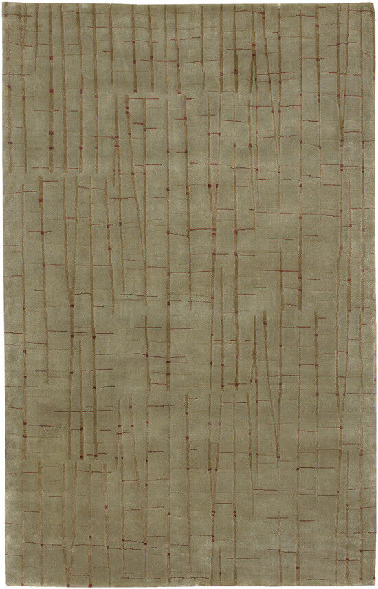 2x3 Surya Hand Knotted Wool verde Bamboo 7405 Area Rug - Approx 2' x 3'
