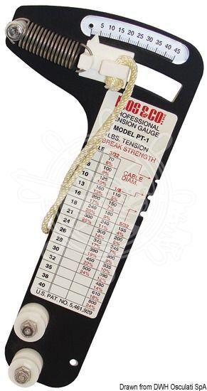LOOS & CO Dehnungsmesser Professional Seile 2.5/3/4 2.5/3/4 Seile mm b3850c