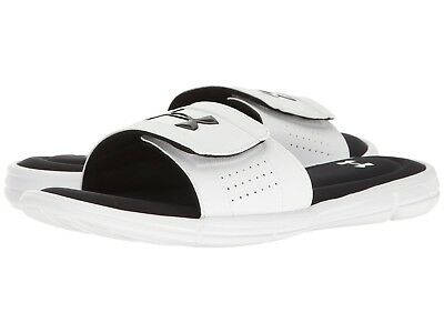 Black//White 110X sm NEW Youth UNDER ARMOUR Slides 1287320