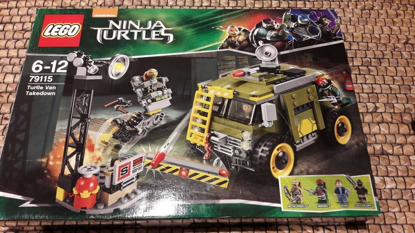 Collectors Item LEGO Ninja Turtles 79115 Turtle Van Takedown Building Set