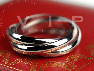 Cartier Trinity Ring (1999) Weißgold / 18k White Gold Bague Sortija Anello Gr.59 Reich An Poetischer Und Bildlicher Pracht